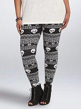 Torrid Black White Skull Fair Isle Sweater Leggings Size: 1X 1 aka 14 16 #172
