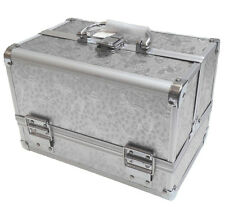 Silver Rose Beauty Jewellery Storage Bag Cosmetic Box Make Up Nail Vanity Case