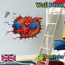 Amazing spiderman 3d crack-Vinyle Mur Autocollant Sticker Décoration chambre de vos enfants