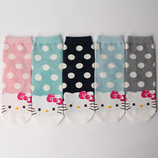 HELLO KITTY CARTOON SOCKS 5 pairs=1 pack women girl cute MADE IN KOREA socks