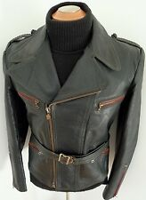 ✰ HAELSON GERMANY WWII 2 era Vintage LUFTWAFFE LEATHER MOTORCYCLE Jacket COAT