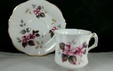 Hammersley English Bone China Teacup and Saucer Pink Flowers