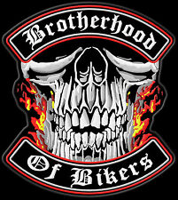 Brotherhood of Bikers patch écusson xl 30x27cm-top qualité us Import Blouson MC
