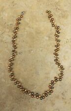 "NEW HONORA BROWN MULTIPLE CULTURED PEARL 20"" OVAL PEARL STERLING NECKLACE QVC"