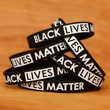 10 Black Lives Matter Wristbands - Silicone Awareness Wrist Band Bracelets