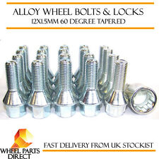 Set of 16 * 12x1.5mm Tapered Alloy Wheel Bolts + 4 Locking Lock Bolts + Nut Key
