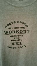 ROOTS CANADA NWT ATHLETIC VINTAGE T SHIRT COTTON HERITAGE SZ. L/XL COLLECTIBLE