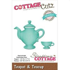 COTTAGE CUTZ TEAPOT AND TEACUP CUTTING DIE SET - NEW UNIVERSAL FIT