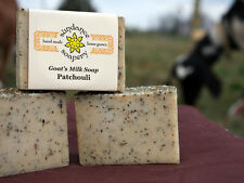 Homemade Goat's Milk Soap ~Patchouli ~ Handmade Soap ~Great For Acne & Oily Skin
