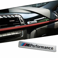 New M Sport Performance Car Interior Silver 3D Sticker Badge - Silver