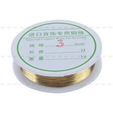 0.3/0.4/0.8mm Silver/Golden Plated Copper Wire Beads Jewelry Making Craft
