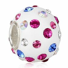 "Andante-stones 925 plata Big circonita bead ""Marshmallow Dream"" #3321 + regalo"