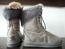 AUSTRALIA LUXE MONTANA SPECIAL Boots Pelz Damen Stiefel Leder Schuhe Gr.37 NEU
