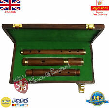 New Traditional Irish D Flute Rosewood Natural Finish + Wooden Hard Case/D Flute