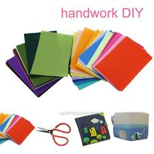 40PCS 10x15cm Colorful Felt Sheets Rainbow DIY Craft Polyester Wool Blend Fabric