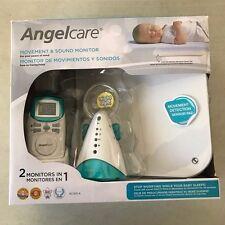 Angelcare Movement and Sound Monitor, Aqua/White Open Box*