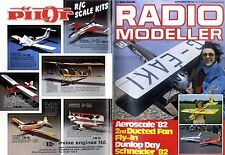 RADIO MODELLER MAGAZINE 1982 SEP SOLITAIRE BY WILSON BLAIR, OS MAX 61 FSR.H TEST