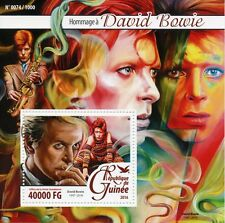 Guinea 2016 MNH David Bowie Tribute 1v S/S Music Stars Celebrities