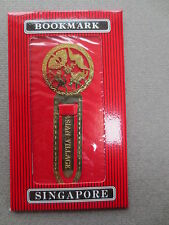 BOOKMARK Metal Gold Plated Brass SINGAPORE Asian Village Unused