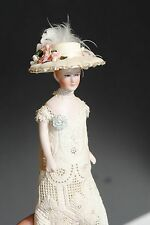 "Beautiful Dollhouse Artist 6"" Miniature Victorian Lady Woman Doll Nice Outfit"