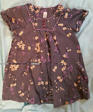 4-5 Yrs Dress by Zara. Beautiful Japanese blossom pattern. Grey, purple & yellow