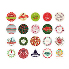 38pcs/lot Christmas Decoration Sticker Xmas Ornament Paper Wall Diary Stickers
