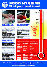 Health and Safety FOOD HYGIENE A4 210 x 297mm POSTER
