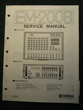 Yamaha EM-200B Ensemble Mixer Service Manual Schematics Parts List 1979 EM200B