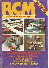 RCM N°47 KLEM KL 35 / SAITO 120 / BOMBIX / MACH 2.2 / BOX FLY 10 MG /PUMA SA 330