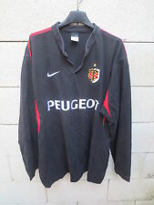 VINTAGE Maillot STADE TOULOUSAIN Nike shirt rugby col rond noir XL Toulouse