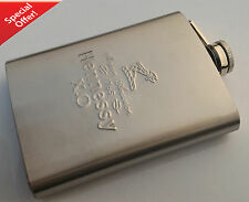 Engraved Stainless Steel Hip Flask for Wine/Whisk 8oz