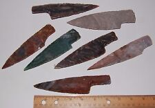 "1 Hand Made Flint Agate Knife Blade  Average 6"" to 6 1/2  Inches Long Arrowheads"