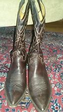 EUC Tall Sanders Boot Dark Brown Calf Leather Cowboy Boots - US Size 11 D (Mens)