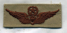 US Army Master Air Crew Wing badge DCU Desert Tan Patch