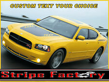 DODGE CHARGER CUSTOM HOOD BLACKOUT STRIPE FACTORY DECAL 2006 2007 2008 2009 2010