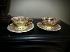 antique jkw germany beehive carlsbad love story SET OF DEMI CUP 24k gold bavaria