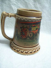 "Vintage McCoy Beer Stein ""Her Majesty"" by Burrell 1897 Steam Engine Design"