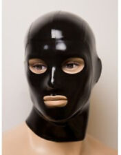 sexy black latex mask rubber hood gummi 0.4mm for party wear catsuit unique new