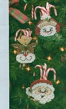 CANDY CANE FRIENDS SANTA CHRISTMAS PLASTIC CANVAS PATTERN INSTRUCTIONS ONLY