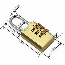 New 3 Digit Dial Combination Suitcase Luggage Metal Code Password Lock Padlock
