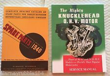 Harley Knucklehead Parts Book Service Manual Combo 1936-1940