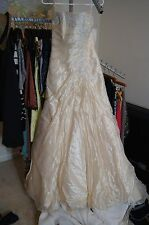 Maggie Sottero Wedding Dress, Size 8, in Champagne