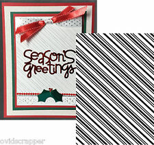 CANDY STRIPE embossing folder Couture Creations embossing folders Christmas