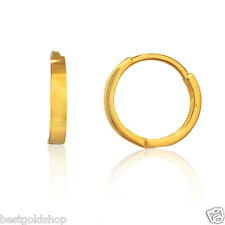 Solid Real 10KT Yellow Gold Small 11mm Huggie Hoop Earrings Great Gift Idea