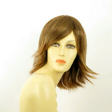 mid length wig for women brown copper wick light blond ref: URSULA 6bt27b  PERUK