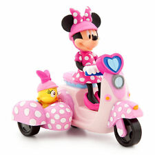 Disney Store Talking Minnie Mouse Cuckoo Loca Bird Toy Wind-Up Scooter Car NEW
