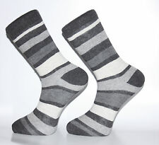 High Quality Black, White and Grey Striped Socks