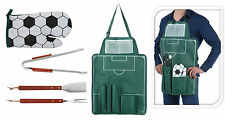 5 Piece Football BBQ Apron & Tools Barbecue Tools Apron Oven Glove Football BBQ