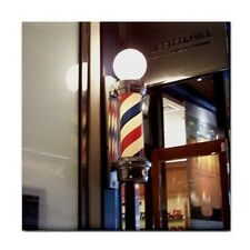 Barber Pole Ceramic Tile Coaster