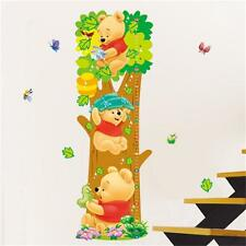 Winnie The Pooth Height Chart Wall Sticker Decal Removable Nursery Decor Kids